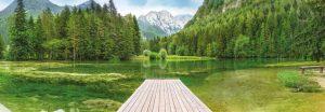 Painel Fotográfico Lago Verde/ Ref: 4-538 3.68m Largura x 1.27m Altura