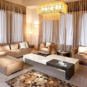 Cortina Voil para sala de estar