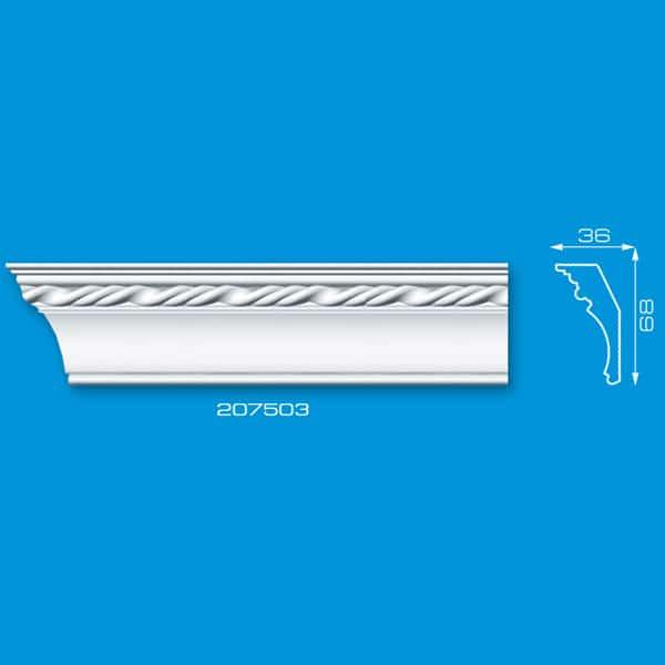 Moldura de Isopor com Textura e Desenhos | Ref: 207503