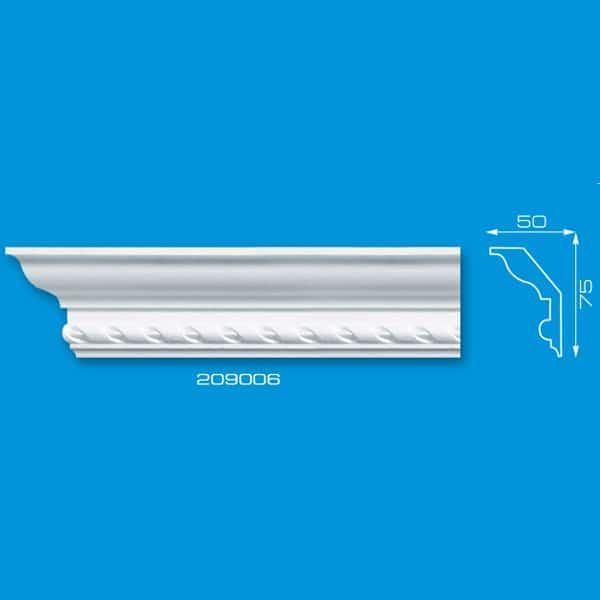 Moldura de Isopor para acabamento de Roda Teto | Ref: 209006