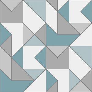 Papel de Parede Zara Azul e Cinza - Ref: 4106