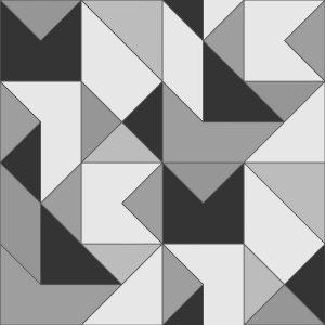 Papel de Parede Zara Preto e Branco - Ref: 4109