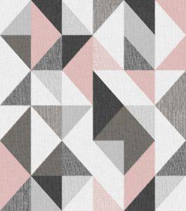 Papel de Parede Geométrico Rosa - Ref: 4120