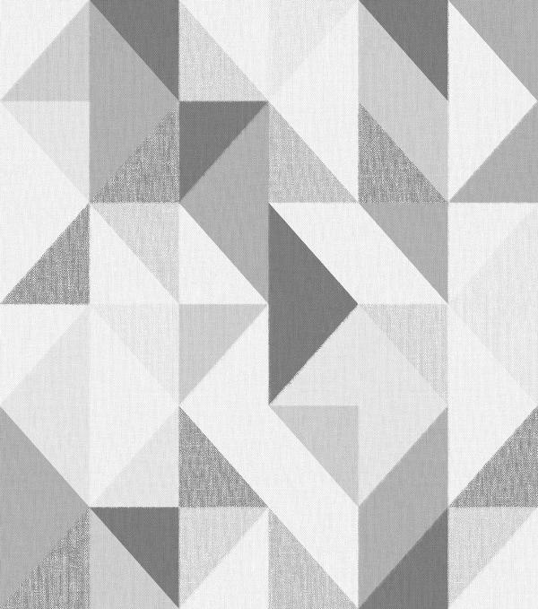 Papel de Parede Geométrico Cinza - Ref: 4122