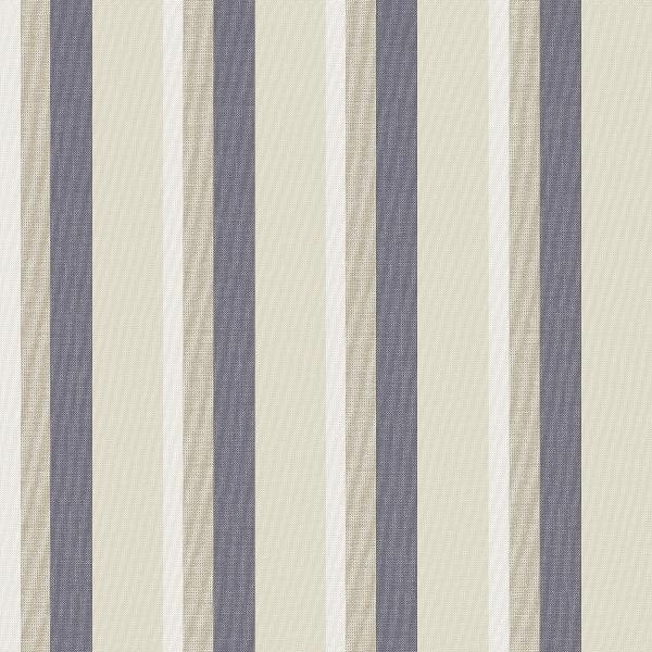 Papel de Parede Listrado Azul e Bege - Ref: 4124