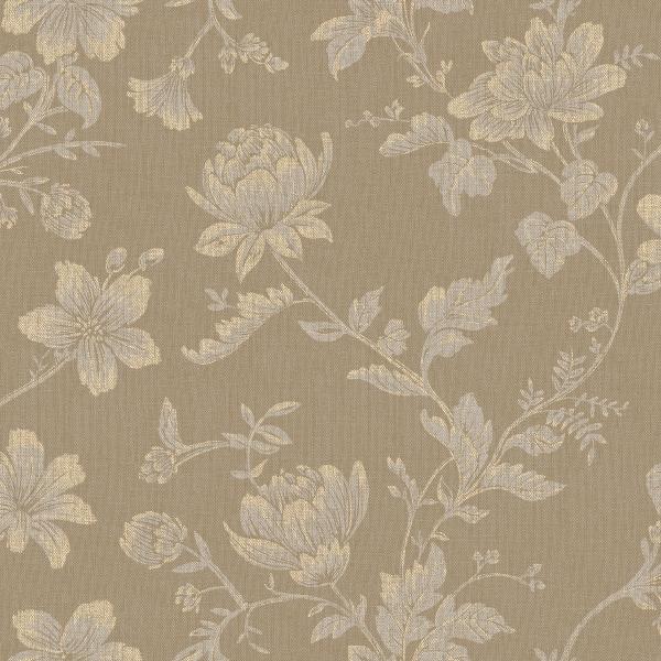 Papel de Parede Floral Marrom - Ref: 4127