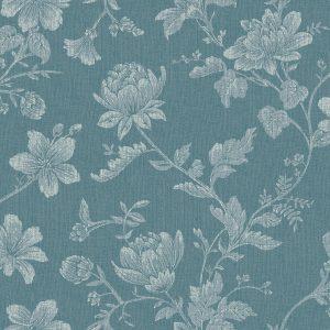Papel de Parede Floral Azul - Ref: 4129
