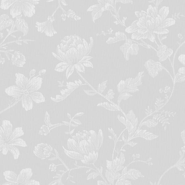 Papel de Parede com Flores Cinza - Ref: 4130